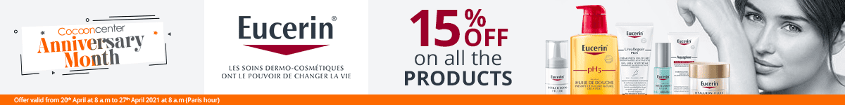 15% off on all the Eucerin products