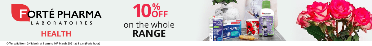 10% off on the whole Forté Pharma Health range