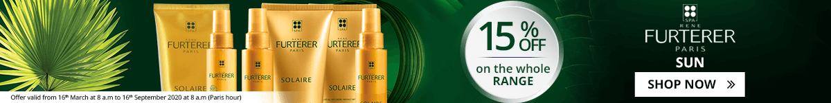 15% off on the whole Furterer Sun Products range