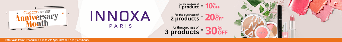 1 Innoxa product purchased = 10% off. 2 Innoxa products purchased = 20% off. 3 Innoxa products purchased = 30% off