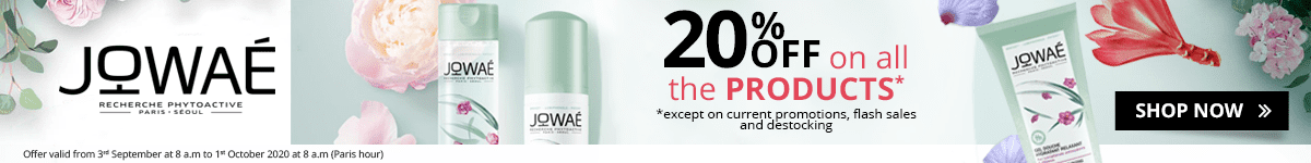 20% off on all the Jowaé products