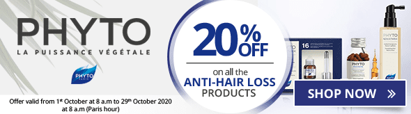 20% off on the whole Phyto Anti-Hair Loss range