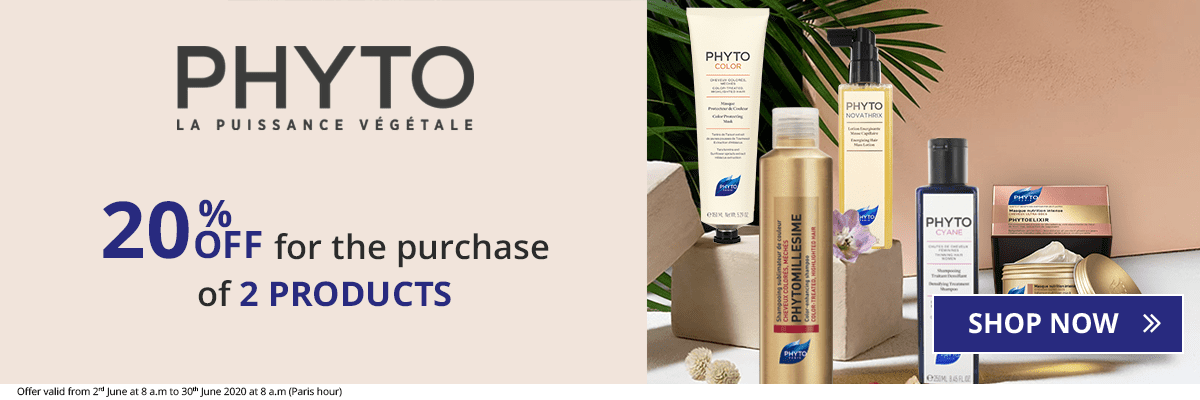 2 Phyto products purchased = 20% off
