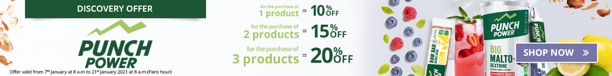 1 Punch Power product purchased = 10% off. 2 Punch Power products purchased = 15% off. 3 Punch Power products purchased = 20% off