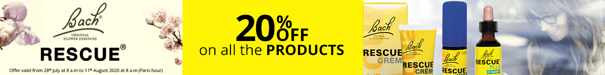 20% off on all the Rescue products