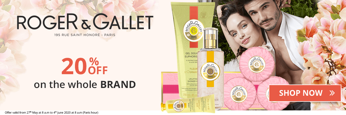 20% off on all the Roger & Gallet products