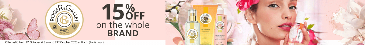 15% off on all the Roger & Gallet products