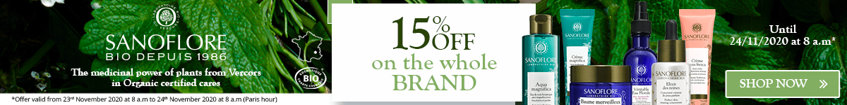 15% off on all the Sanoflore products