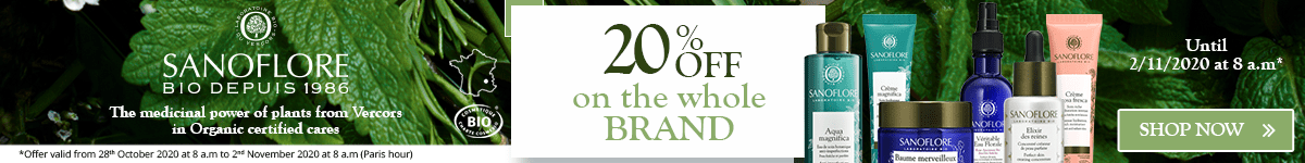 20% off on all the Sanoflore products