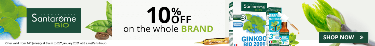10% off on all the Santarome products