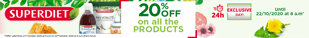 20% off on all the Super Diet products