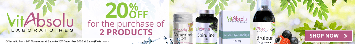 2 VitAbsolu products purchased = 20% off