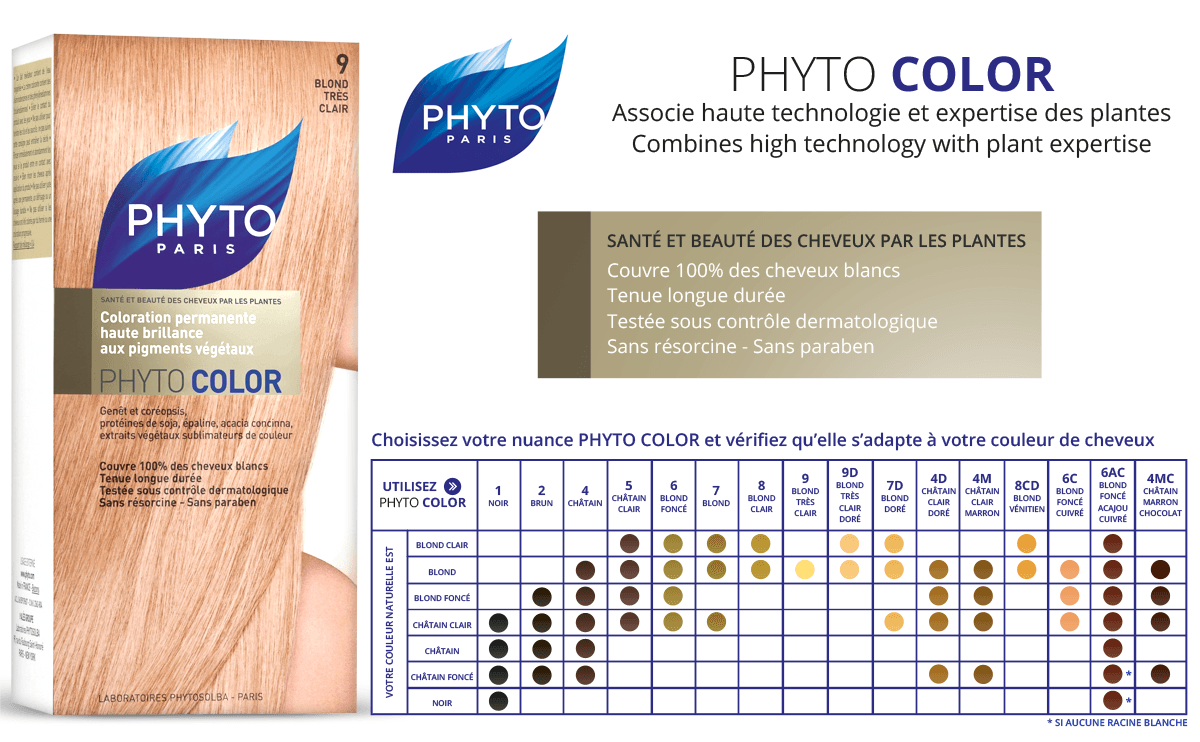 get more information about the colours - Coloration Phyto