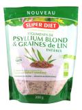 Super Diet Blond Psyllium Teguments and Whole Organic Flax Seeds 200g