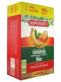 Super Diet Organic Ginseng Royal Jelly and Acerola 20 Phials + 10 Phials Free