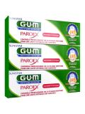GUM Paroex Gel Dentifrice Lot de 3 x 75 ml