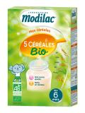 Modilac 5 Cereals Organic From 6 Months 230g