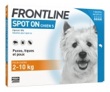 Frontline Spot-On Chien S (2-10 kg) 4 Pipettes
