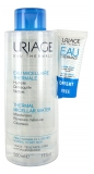 Uriage Thermal Micellar Water Normal to Dry Skin 500ml + Free Water Cream 15ml