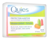 Quies Rubber Foam Ear Plugs 6 Pairs