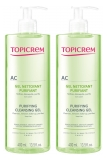 Topicrem AC Gel Nettoyant Purifiant Lot de 2 x 400 ml
