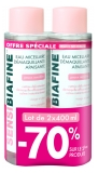 SensiBiafine Eau Micellaire Démaquillante Apaisante Lot de 2 x 400 ml
