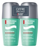 Biotherm Homme Aquapower Ice Cooling Effect Anti-Transpirant 48H Roll-On Lot de 2 x 75 ml