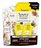 Garancia Source Micellaire Enchantée Orange Blossom Micellar Cleansing Water Eco-Refill 2 x 400 ml + Free Refill Bottle