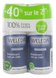 Weleda Déodorant Homme Roll-on 24H Lot de 2 x 50 ml