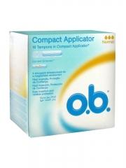 o.b. Compact Applicator 16 Normal Tampons