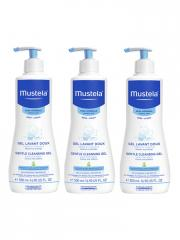 Mustela Gel Lavant Doux Lot de 3 x 500 ml