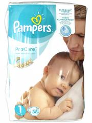 Pampers ProCare Premium Protection 38 Couches Taille 1 (2-5 kg)