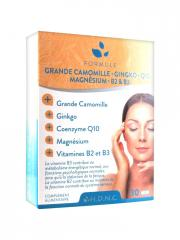 H.D.N.C Chamomile Ginkgo Coenzyme Q10 Magnesium Vitamins B2 and B3 30 Tablets
