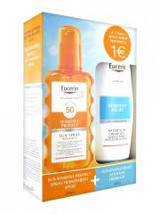 Eucerin Sun Protection Sun Spray Transparent SPF 50 200 ml + Sensitive Relief After Sun Crème-Gel 150 ml