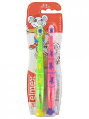 Elmex 2 Brosses à Dents Souple 3-6 Ans