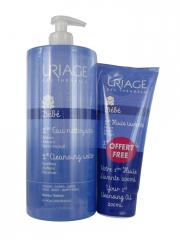 Uriage Bebé 1st Leave-In Cleansing Water 1 L + Washing Oil 200 ml Disponible