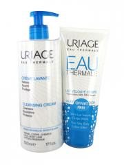 Uriage Cleansing Cream 500ml + Free Silky Body Lotion 200ml