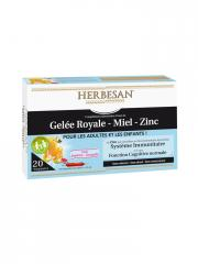 Herbesan Royal Jelly Honey Zinc From 4 Years 20 Phials