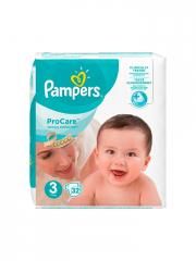 Pampers ProCare Premium Protection 32 Couches Taille 3 (5-9 kg)