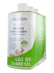 Gilbert Liniderm Liniment Oléo-Calcaire Lot de 3 x 480 ml