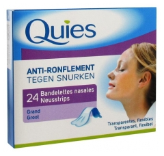 Quies Anti-Ronflement 24 Bandelettes Nasales