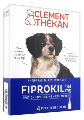 Clément Thékan Fiprokil 134mg Medium Dogs 4 Pipettes