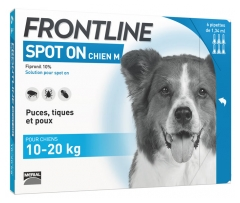 Frontline Spot-On Hund M (10-20 kg) 6 Pipetten