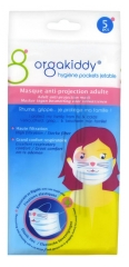 Orgakiddy Masque Anti-Projection Adulte 5 Masques Motif Chat