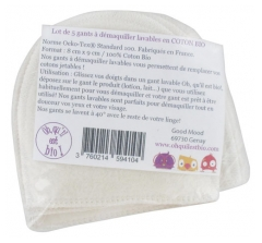 Oh qu'il est bio 5 Washable Gloves to Remove Make-Up in Organic Cotton