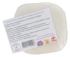 Oh qu'il est bio 5 Washable Squares to Remove Make-Up in Organic Cotton