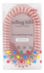 Rolling Hills 5 Traceless Hair Rings Slimmer