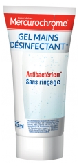 Mercurochrome Gel Mains Désinfectant Antibactérien 75 ml