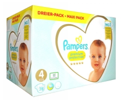 Pampers Premium Protection Maxi Pack 78 Nappies Size 4 (9-14kg)