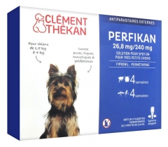 Clément Thékan Perfikan 26,8mg/240mg Very Little Dogs 4 Pipettes
